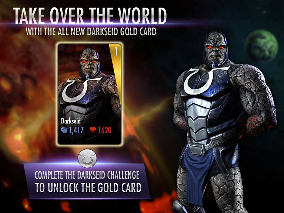 Injustice Gods Among Us Darkseid Card