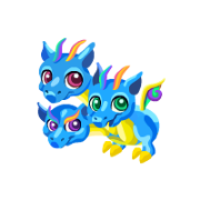 Dragon Story Triple Rainbow Baby