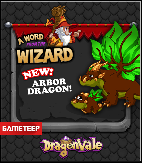 DragonVale Arbor Dragon Released for Breeding