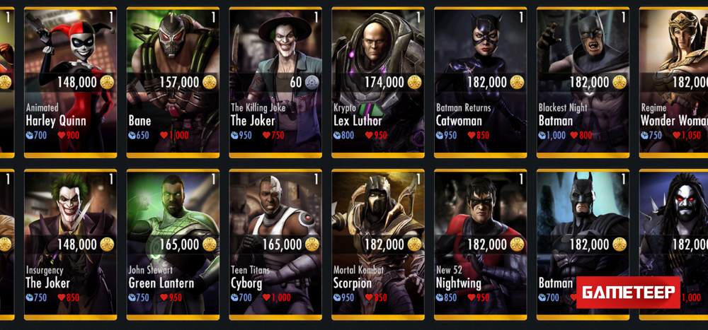 Injustice Gods Among Us New Characters
