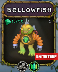 My Singing Monsters Bellowfish