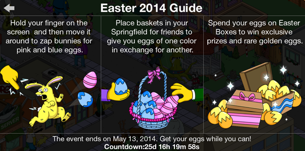 The Simpsons Tapped Out - Easter 2014 Guide