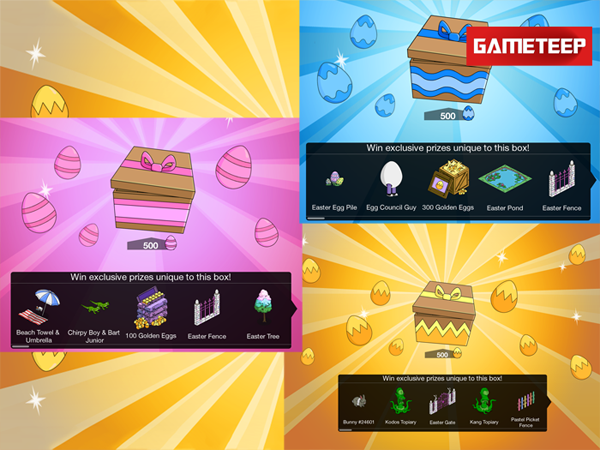 The Simpsons Tapped Out - Easter 2014 Prize Box