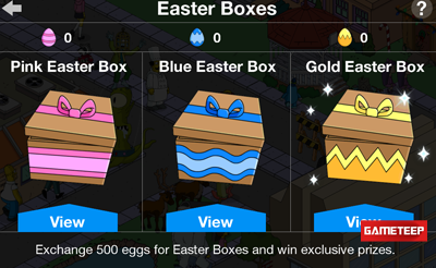The Simpsons Tapped Out - Easter 2014 Prizes