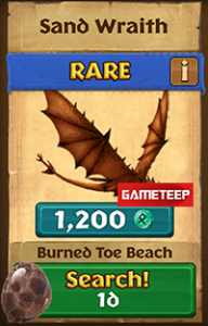 Dragons Rise of Berk - Sand Wraith
