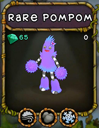 My Singing Monsters Rare PomPom Monster