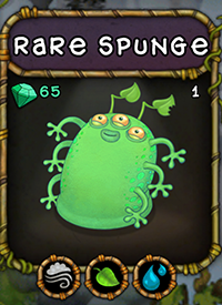 My Singing Monsters Rare Spunge Monster