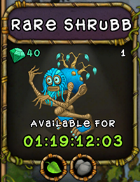My Singing Monsters Rare Shrubb Monster