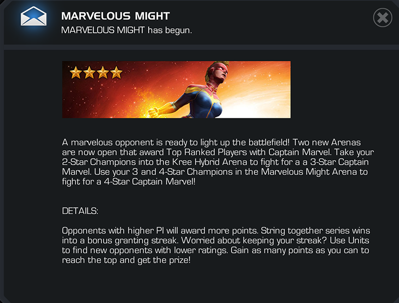 Marvel Contest of Champions Captain Marvel