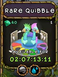 My Singing Monsters Rare Quibble Monster