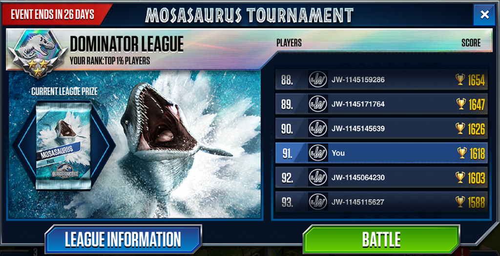 Jurassic World Game - Sea Mosasaurus PACK
